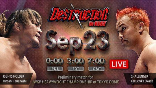Full Card for NJPW Destruction in Kobe 2018