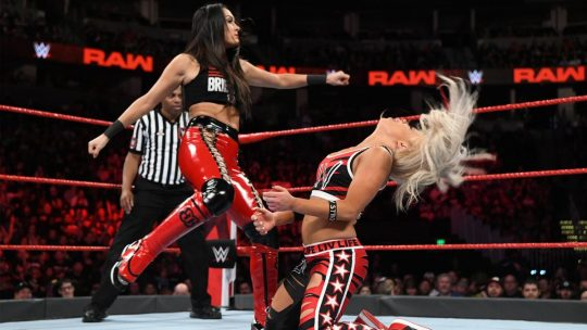 Brie Bella Kicks Liv Morgan in the Face, Appears to Knock Her Out (Video)