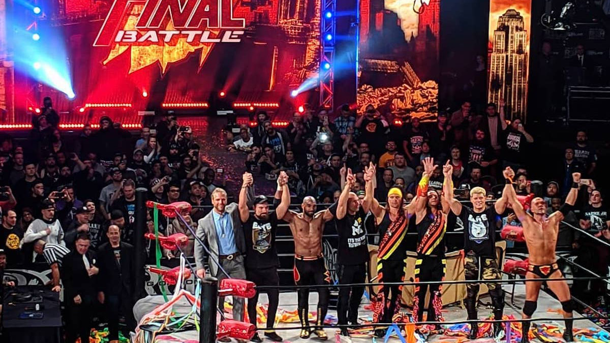 Image result for The Elite Address Live Crowd After ROH Final Battle (Video)