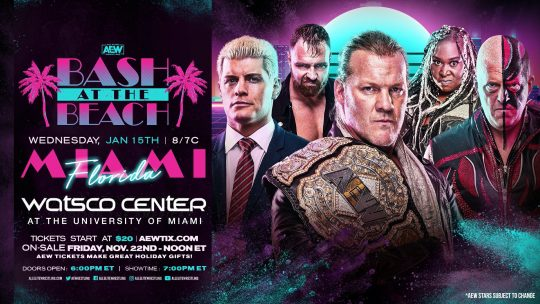"AEW Announces ""Bash at the Beach"" Themed Episodes, Featuring Jericho's Cruise"