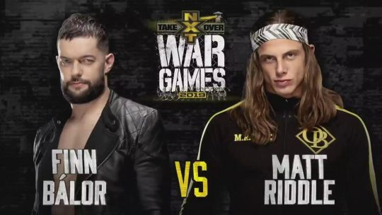 NXT TakeOver: WarGames Card - Balor vs. Riddle Announced, WarGames Matches Changed
