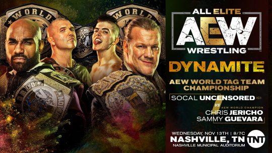 AEW Dynamite Results - Nov. 13, 2019 - SCU vs. Jericho & Guevara