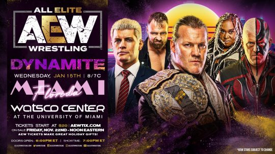 AEW: Dynamite Coming to Miami, Backstage at Full Gear