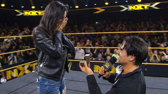 Angel Garza Wins Cruiserweight Title, Proposes to Girlfriend in the Ring
