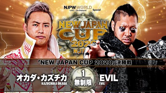 NJPW New Japan Cup 2020 Finals Results - July 11, 2020 - Kazuchika Okada vs. EVIL