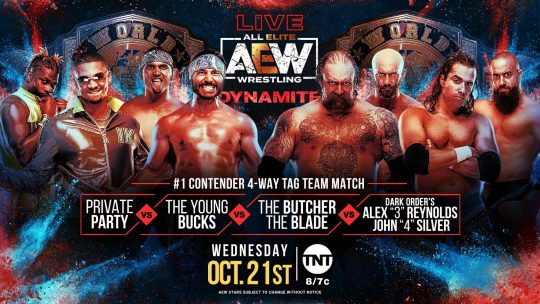 AEW Dynamite Results - Oct. 21, 2020 - Eliminator Tournament, 4-Way Tag Match