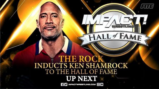 The Rock Inducts Ken Shamrock Into Impact Hall of Fame, Hart & Foley Send Congrats
