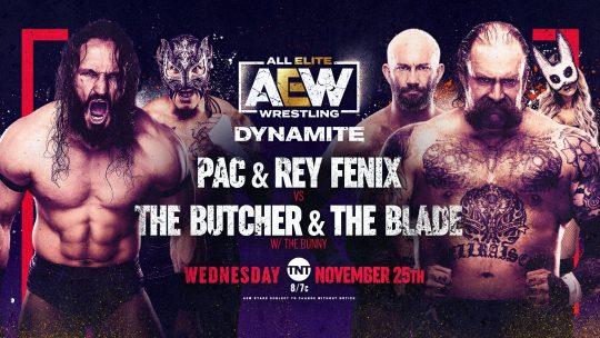 AEW Dynamite Results - Nov. 25, 2020 - Pac & Fenix vs. Butcher & Blade