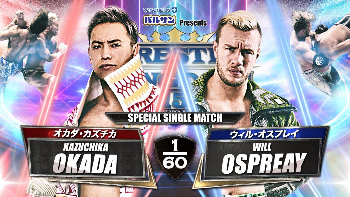 Kazuchika Okada will take on Will Ospreay at NJPW Wrestle Kingdom 15