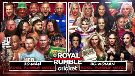 Seven New Entrants Announced for the Royal Rumble