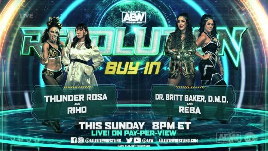 Final (?) AEW Revolution Card: Two New Matches Set & More Changes