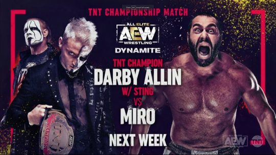 Four Matches (Three Title Matches) Announced for Loaded AEW Dynamite Next Week