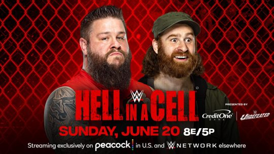 Updated WWE Hell in a Cell Card