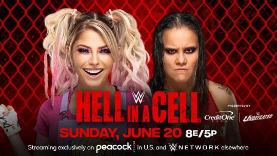 Current WWE Hell in a Cell Card - Five Matches Announced