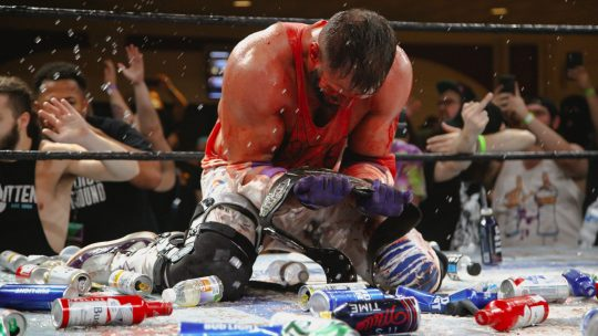 Matt Cardona Wins GCW Title From Nick Gage, Gets Pelted With Drinks