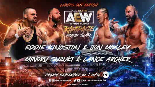 AEW Rampage: Grand Slam Results - Sep. 24, 2021 - Moxley & Kingston vs. Archer & Suzuki