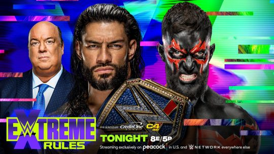 WWE Extreme Rules Card for Tonight